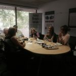 Guests enjoying lunch in our conference room.